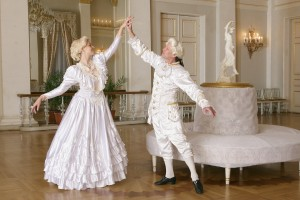 Baroque style couple at Yusupov Palace