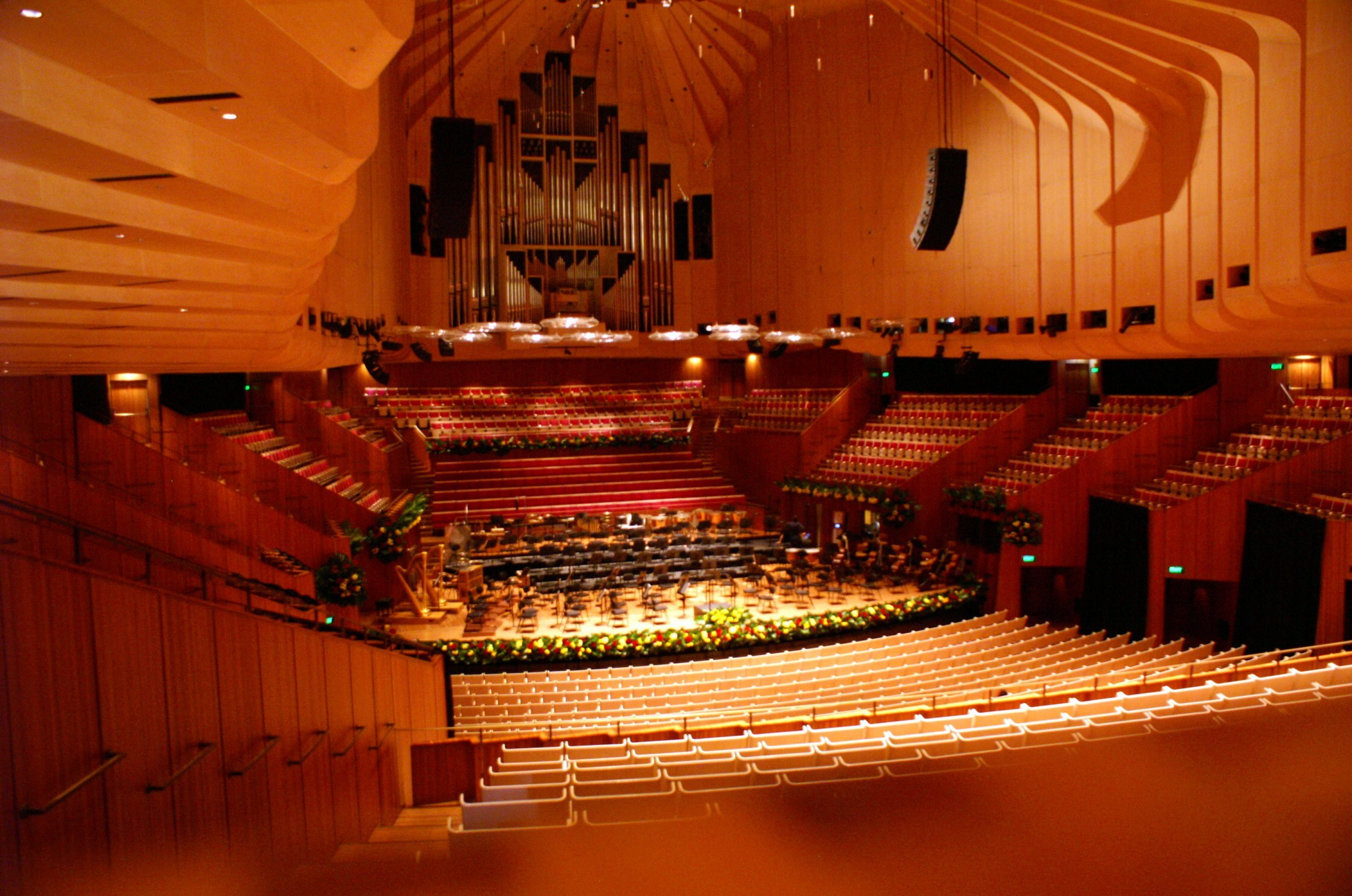 Stage of the concert hall at Sydney opera house