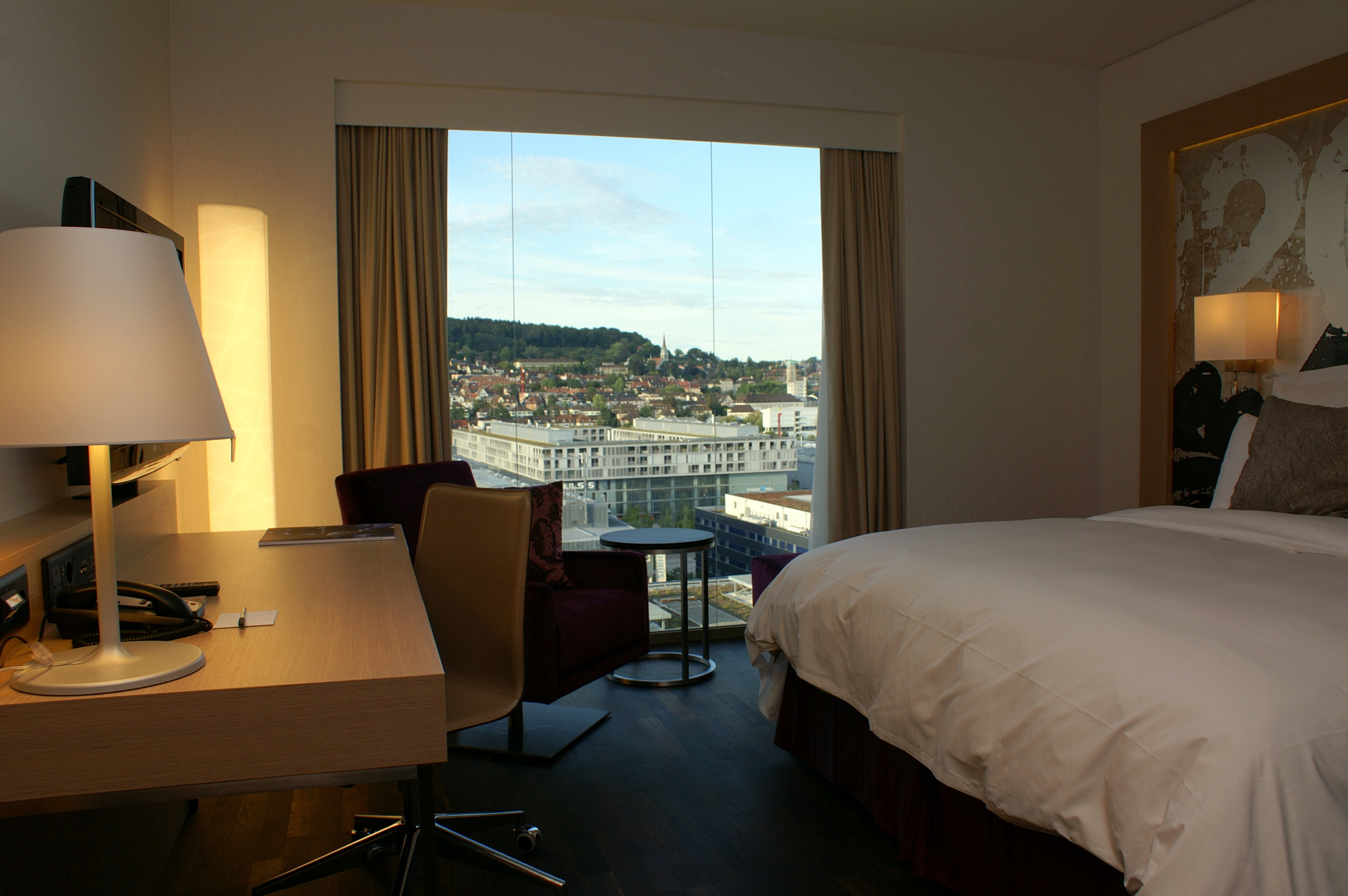 View from a Hotel Room in the Renaissance Zurich Tower Hotel