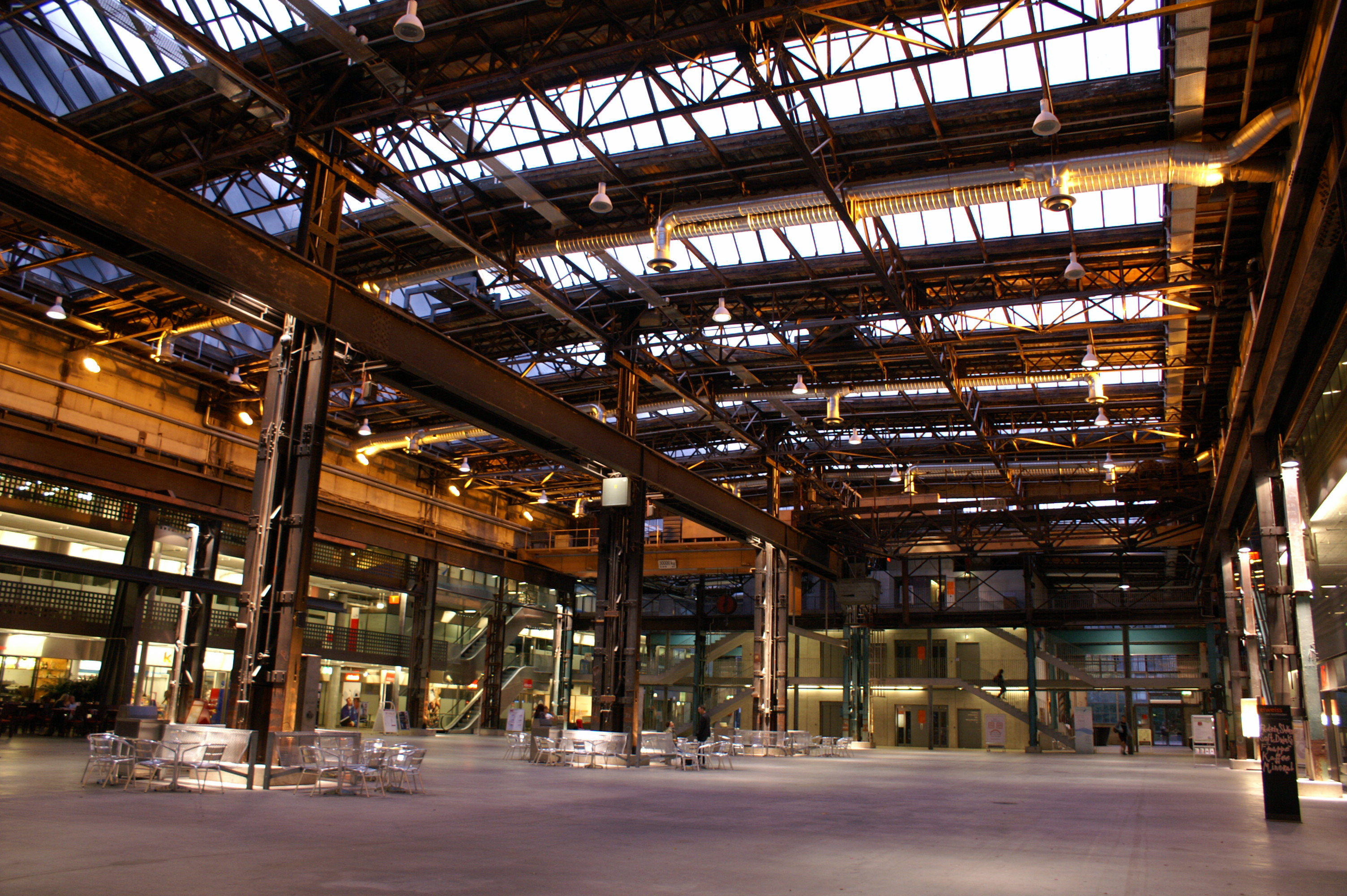 View of the Interior of Puls5 Industrial Hall in Zurich's West End