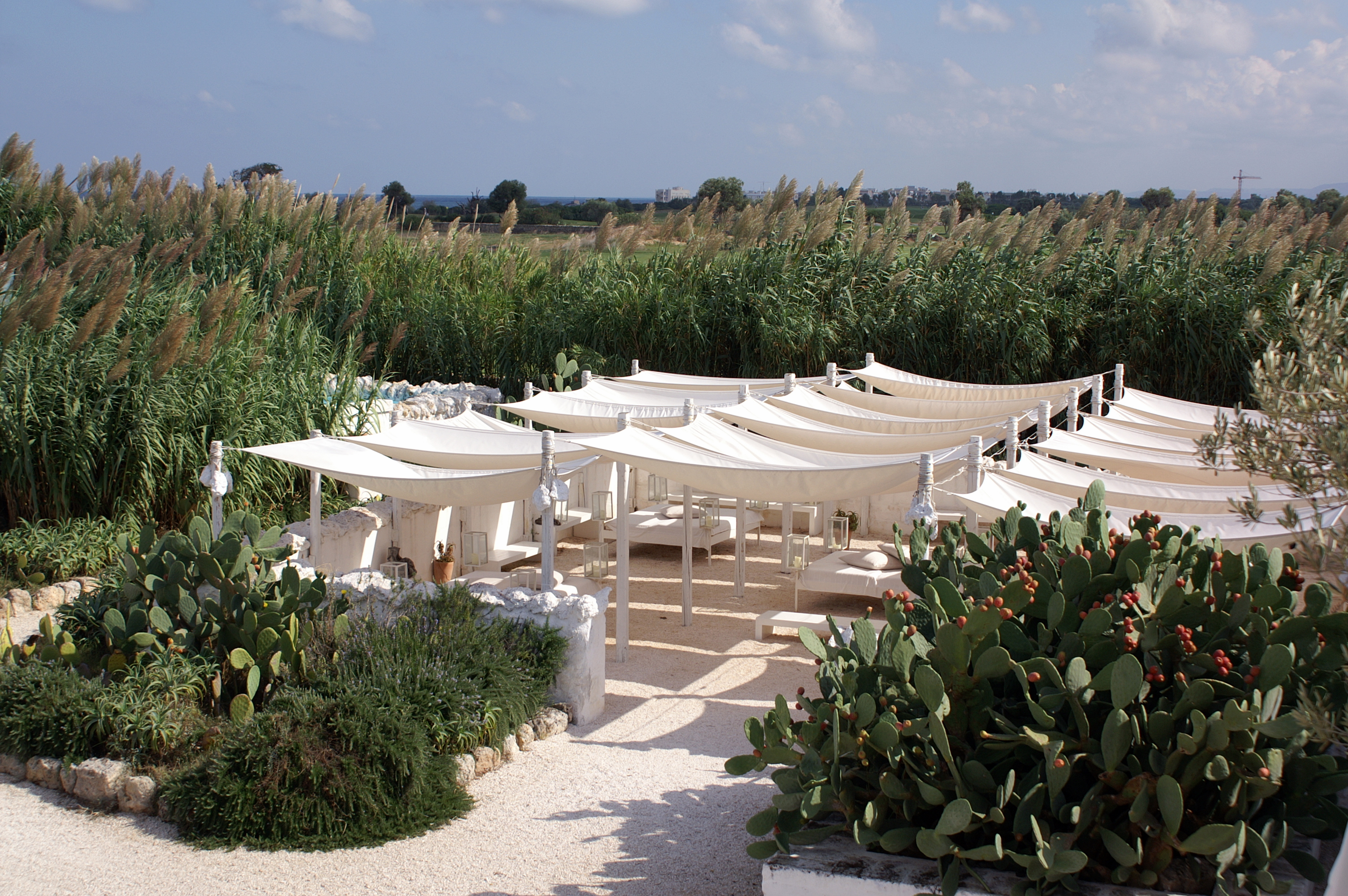 Patio at Masseria Cimino, Puglia, Italy
