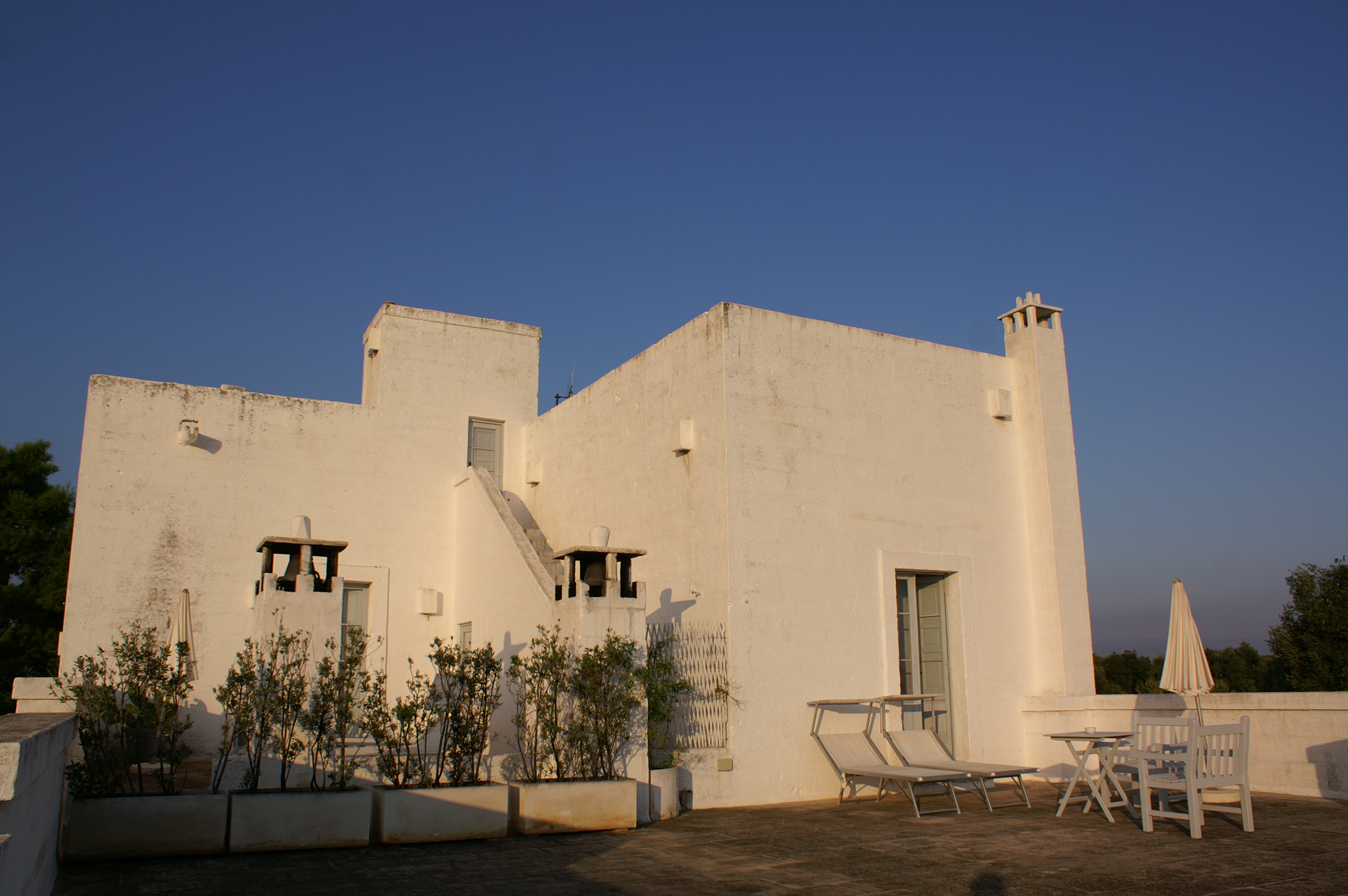Terrasse of Torre Suite at Masseria Cimino