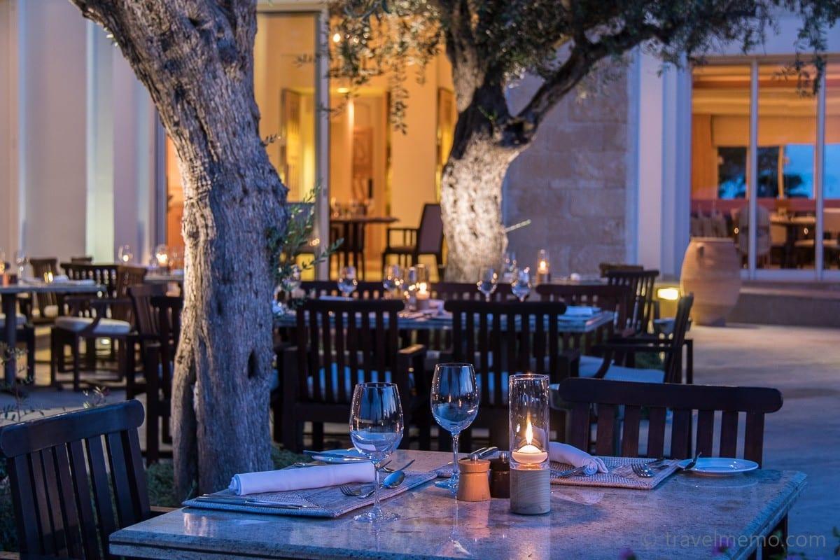 Garten des Amphora Restaurants