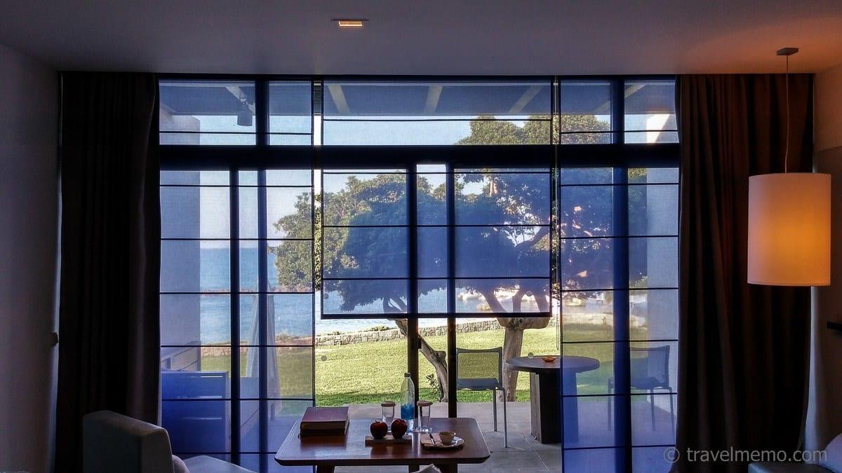 Elegante blaue Vorhänge
