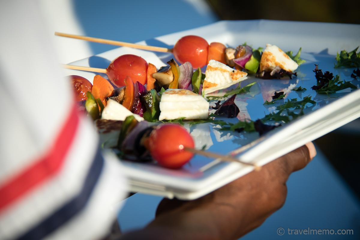 Käse- und Gemüsespiesse