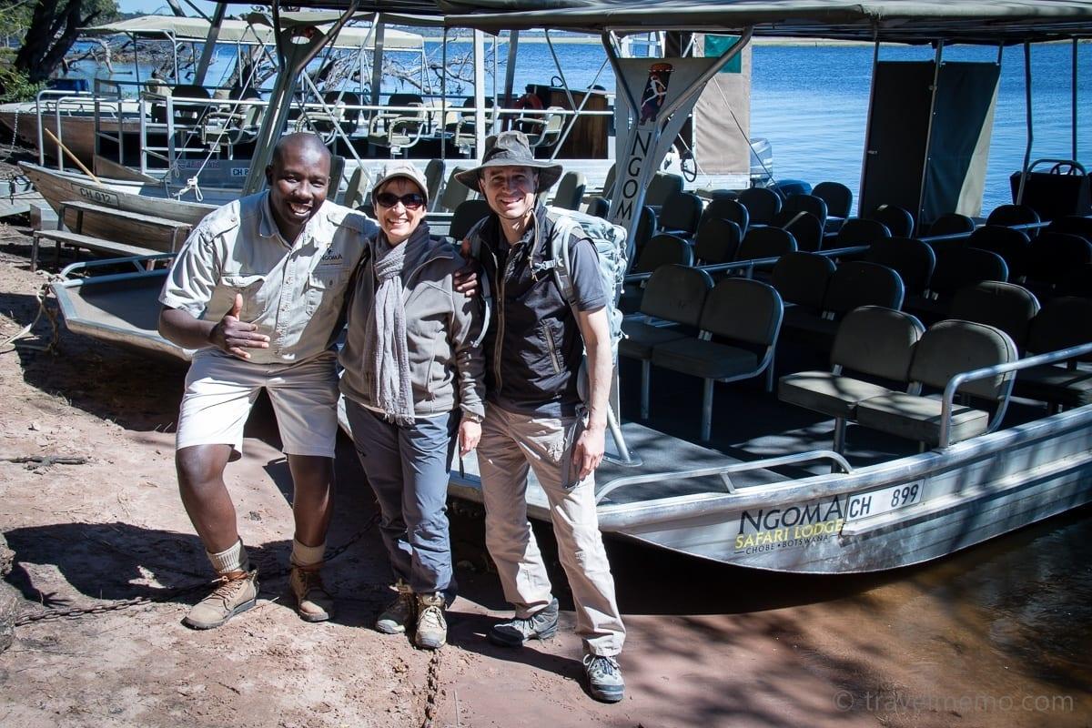 Guide Mukamba mit Katja und Walter