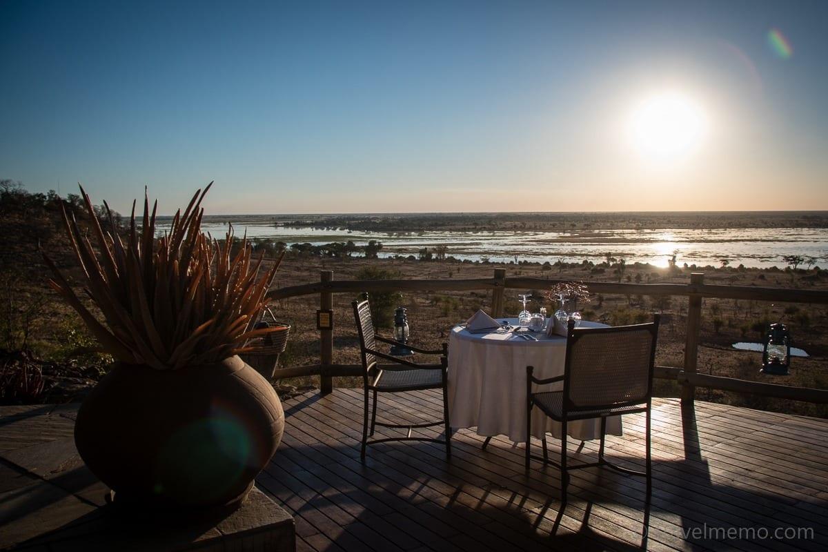Terrasse der Ngoma Safari Lodge