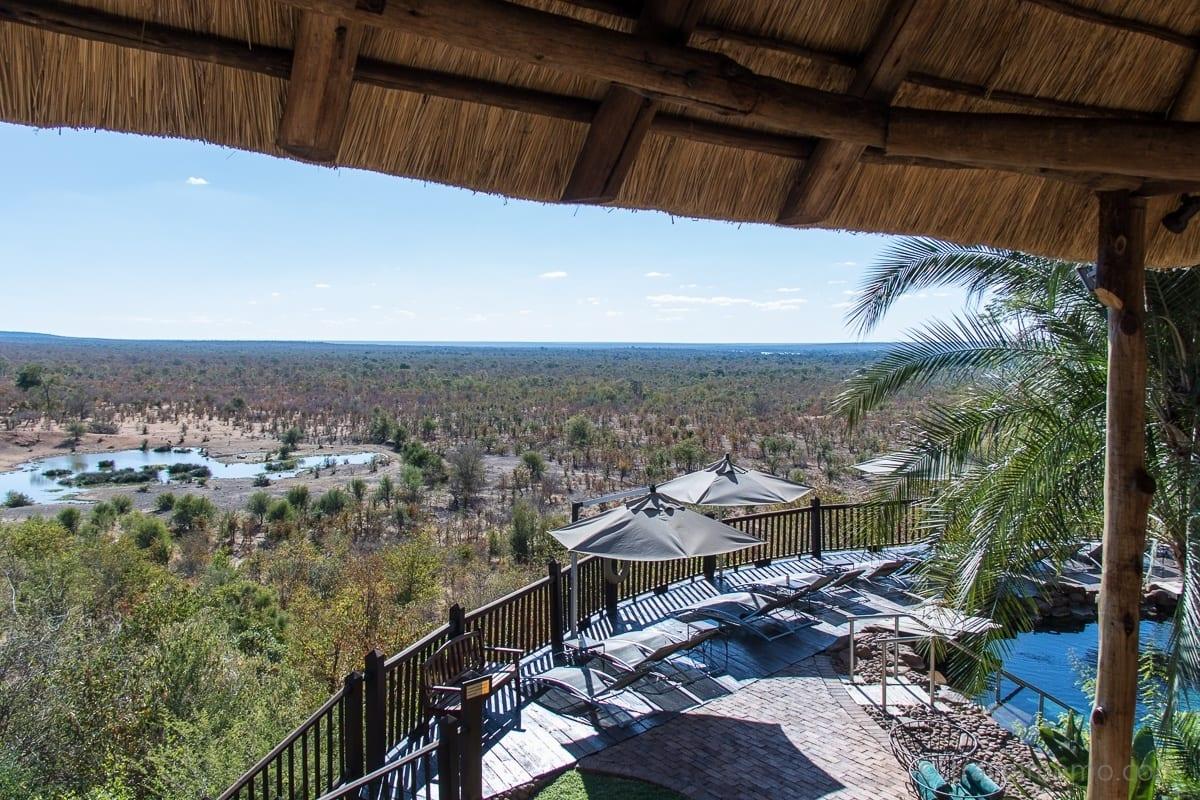 Ausblick von der Victoria Falls Safari Lodge