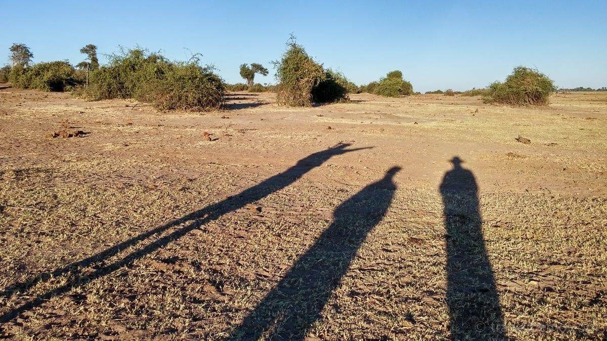 Peter, Katja and Walter on walking safari