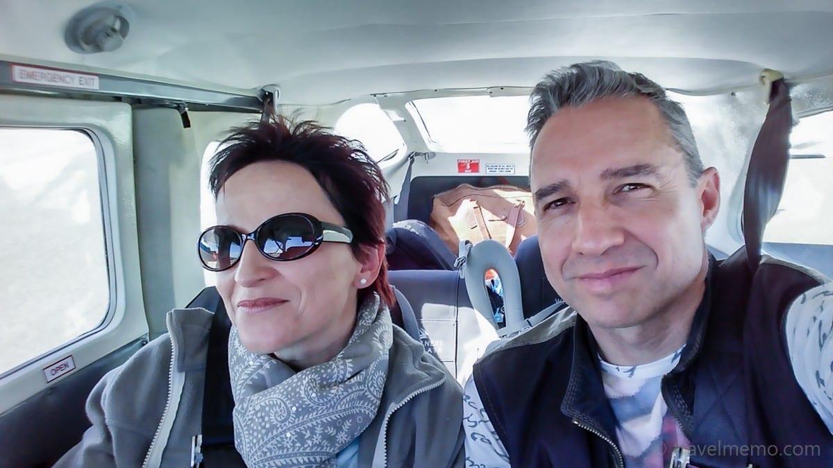 Katja and Walter on a flight safari