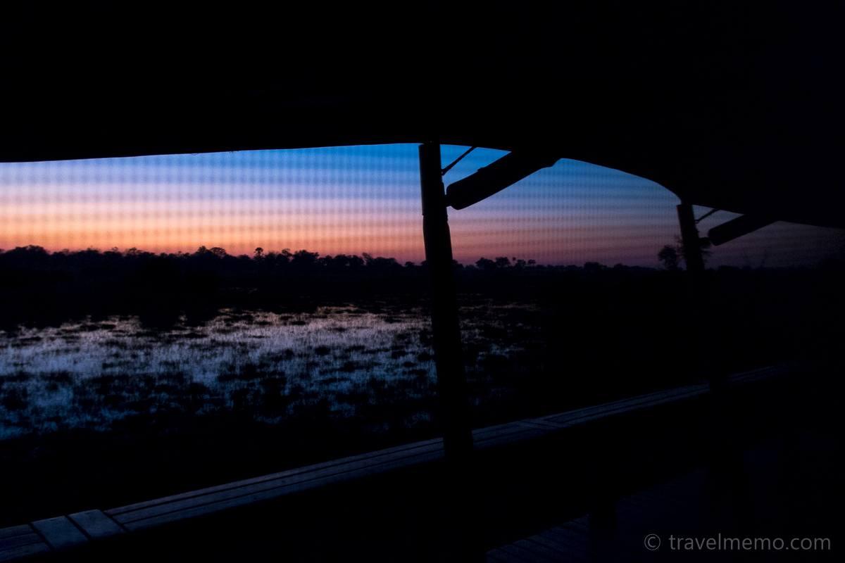 Sonnenaufgang im Little Mombo Camp